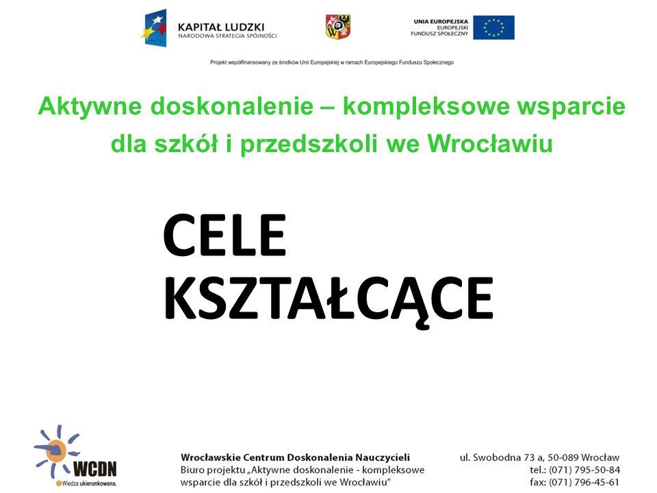 CELE KSZTAŁCĄCE Aktywne doskonalenie – kompleksowe wsparcie dla szkół i przedszkoli we Wrocławiu