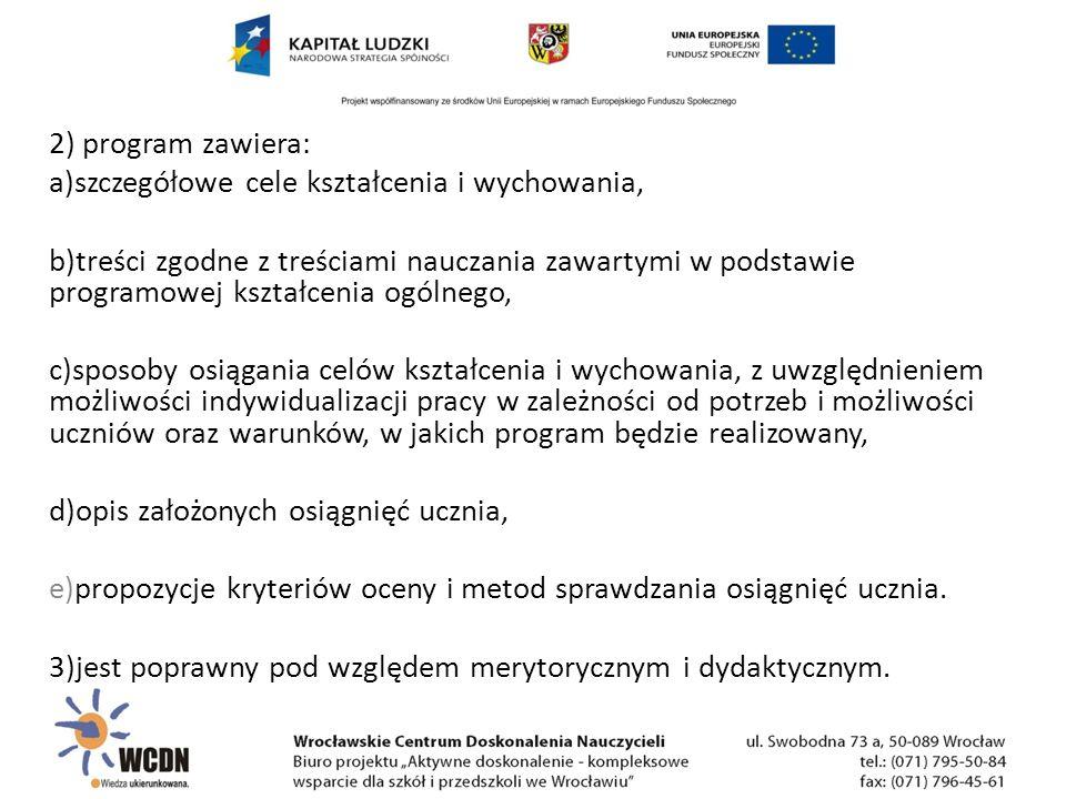 TREŚCI KSZTAŁCENIA W POWIĄZANIU Z CELAMI EDUKACYJNYMI i OSIĄGNIĘCIAMI UCZNIA Aktywne doskonalenie – kompleksowe wsparcie dla szkół i przedszkoli we Wrocławiu