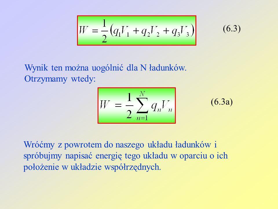 (6.3) Wynik ten można uogólnić dla N ładunków.