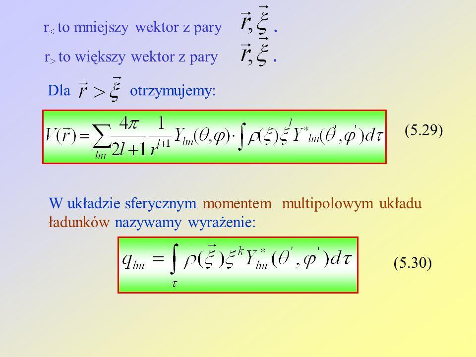 r < to mniejszy wektor z pary. r > to większy wektor z pary.