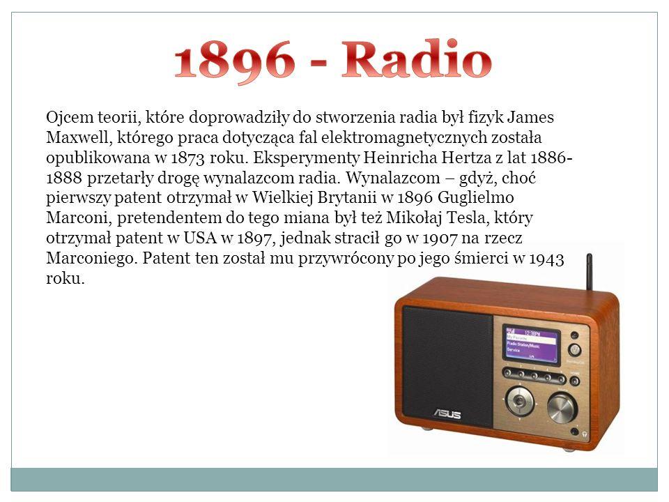 Ojcem teorii, które doprowadziły do stworzenia radia był fizyk James Maxwell, którego praca dotycząca fal elektromagnetycznych została opublikowana w