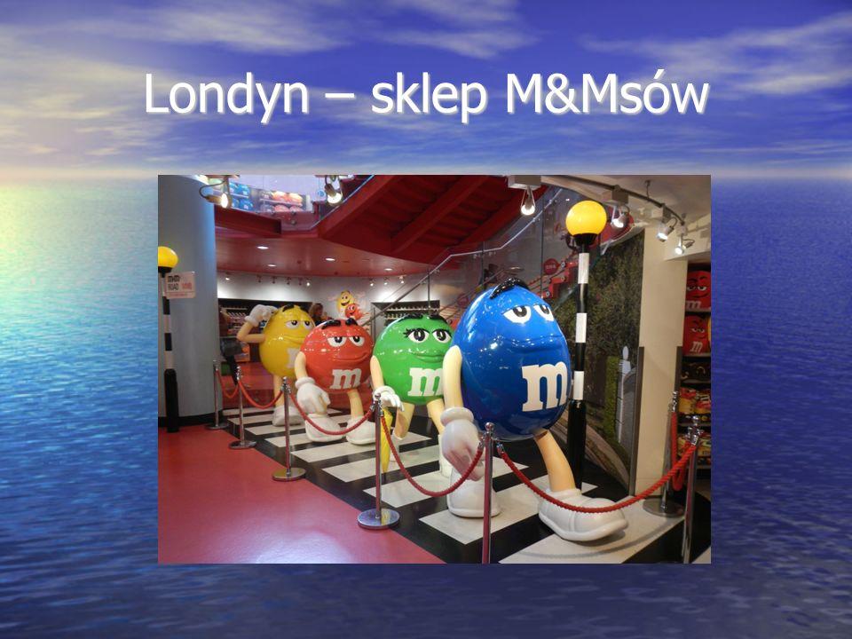 Londyn – sklep M&Msów