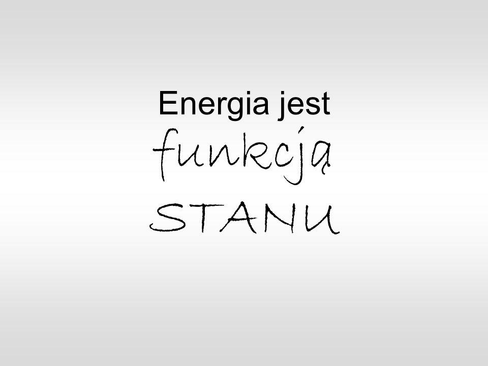 Energia jest funkcja STANU