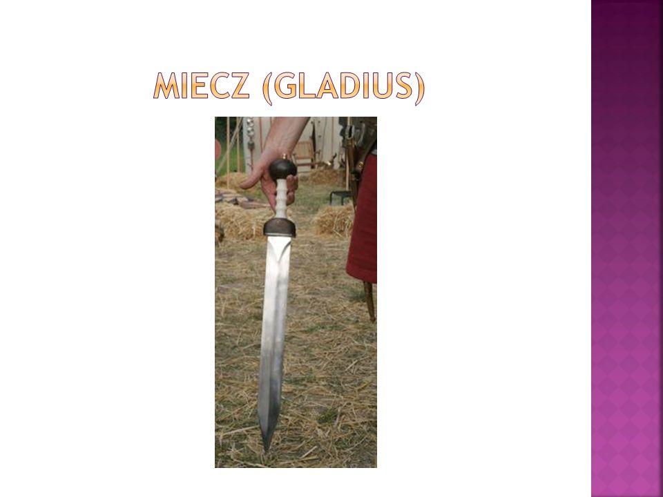  Rękojeść miecza bogato zdobiono, nierzadko do tego celu posługiwano się srebrem czy złotem, zwłaszcza wśród wysokich oficerów.