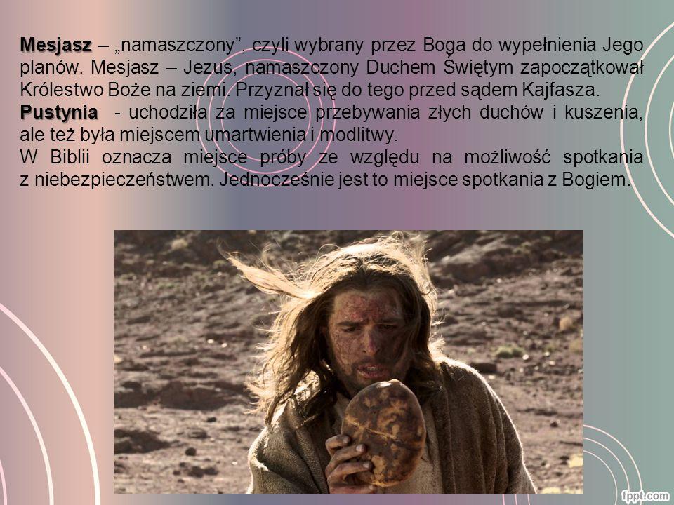 Propozycje szatanaZysk dla szatanaOdpowiedź Jezusa Zamiana kamienia w chleb.