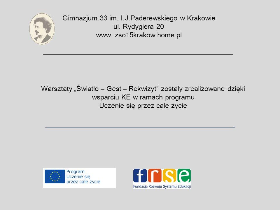 Gimnazjum 33 im. I.J.Paderewskiego w Krakowie ul.