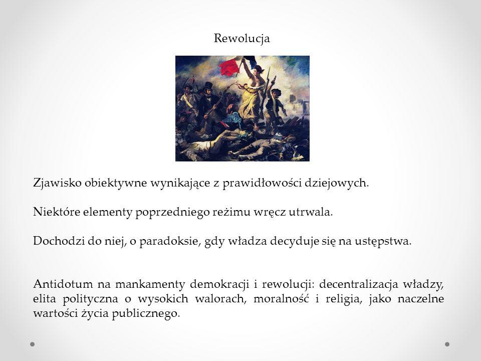 Rewolucja Zjawisko obiektywne wynikające z prawidłowości dziejowych.
