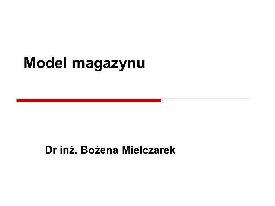 Dr inż. Bożena Mielczarek Model magazynu