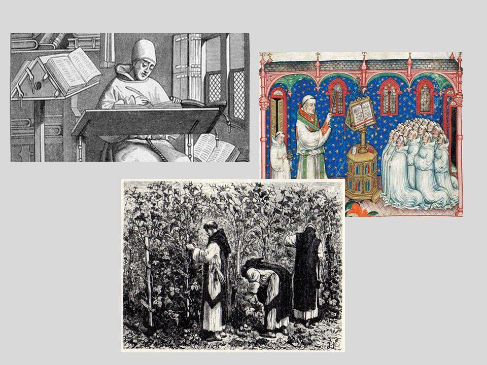 G ł ówne zaj ę cia zakonników Głównymi zajęciami zakonników było przepisywanie ksiąg, zajmowanie się ubogimi, nauczanie w szkołach, praca w ogrodach l