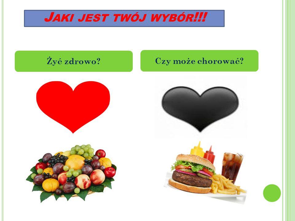 J AKI JEST TWÓJ WYBÓR !!! Żyć zdrowo Czy może chorować