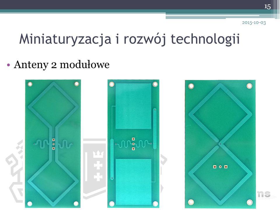 Miniaturyzacja i rozwój technologii Anteny 2 modułowe 15 2015-10-03