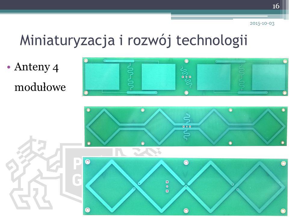 Miniaturyzacja i rozwój technologii 16 2015-10-03 Anteny 4 modułowe