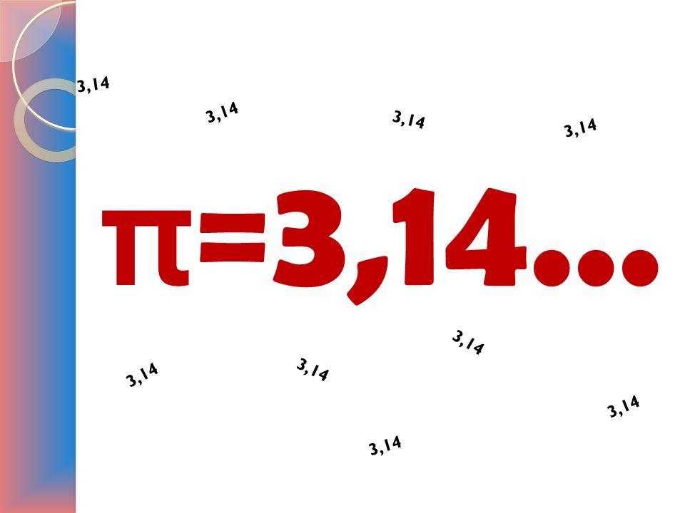 π =3,14... 3, 1 4 3, 1 4 3, 1 4 3, 1 4 3, 1 4 3, 1 4 3, 1 4 3, 1 4 3, 1 4