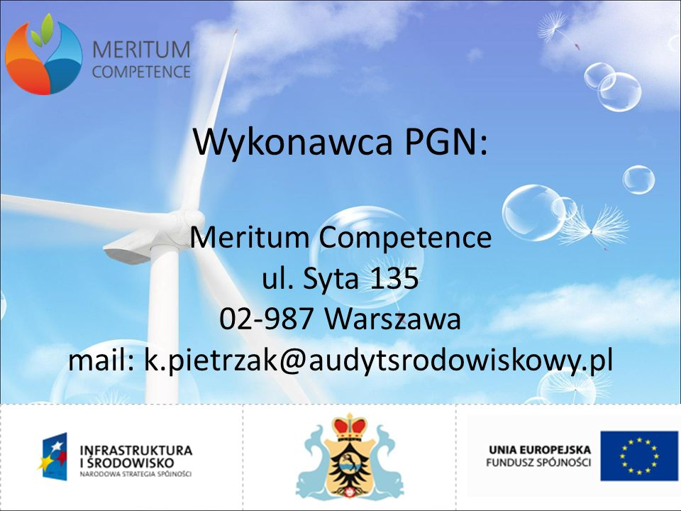 Wykonawca PGN: Meritum Competence ul.