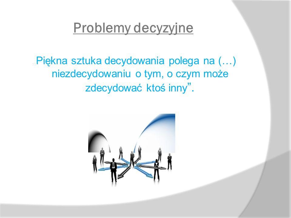 """Problemy decyzyjne Co może skutecznym """"narzędziem pozwalającym na przekazywanie pracownikom uprawnień kierownika?"""