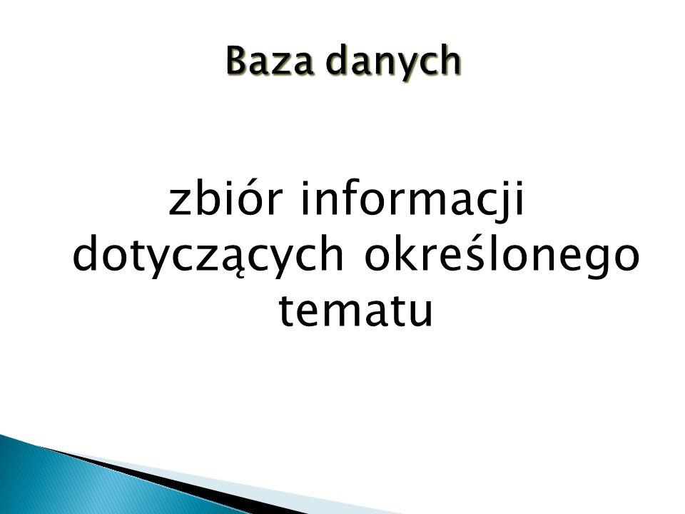 pracownicy firmy  katalog biblioteczny  kartoteka magazynowa  notatnik telefoniczny  notatnik adresowy  dziennik lekcyjny