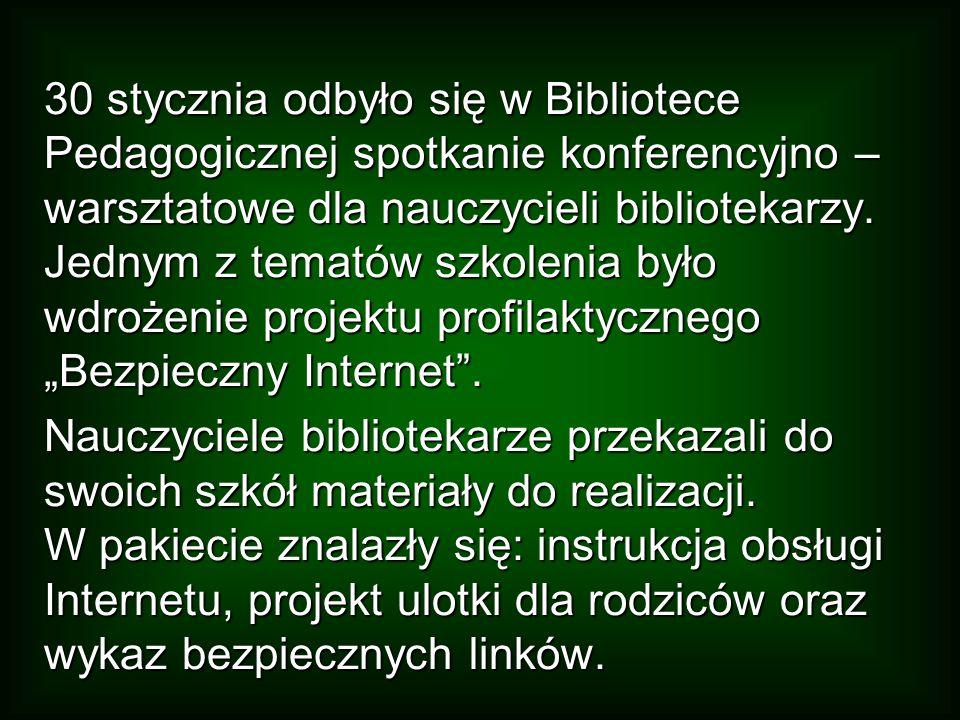 Całość, na terenie miasta, koordynowała Biblioteka Pedagogiczna, a w poszczególnych placówkach- nauczyciele bibliotekarze, zapraszając do współpracy najczęściej nauczycieli informatyki i polonistów.