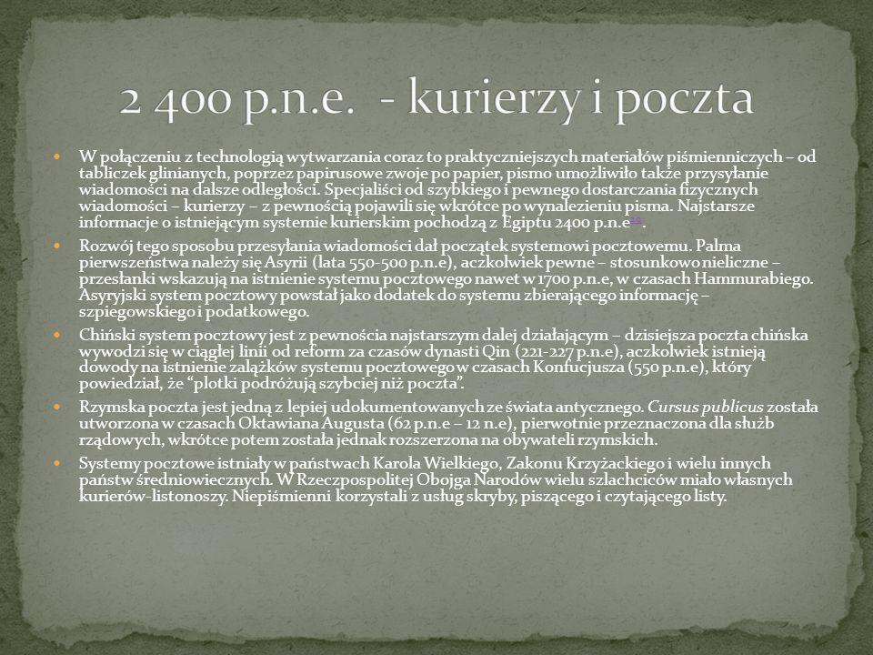 W połączeniu z technologią wytwarzania coraz to praktyczniejszych materiałów piśmienniczych – od tabliczek glinianych, poprzez papirusowe zwoje po pap