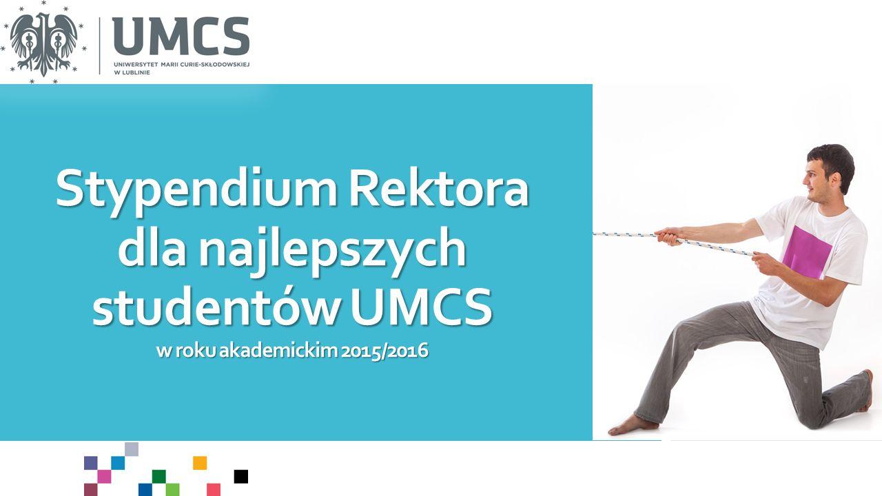 Stypendium Rektora dla najlepszych studentów UMCS w roku akademickim 2015/2016