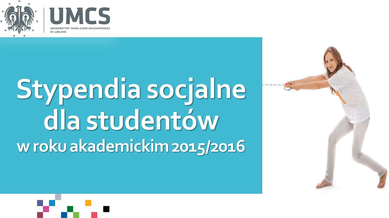 O jakie stypendium o charakterze socjalnym mogę ubiegać się na UMCS.