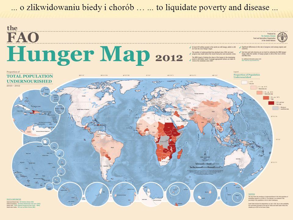 ... o zlikwidowaniu biedy i chorób …... to liquidate poverty and disease...