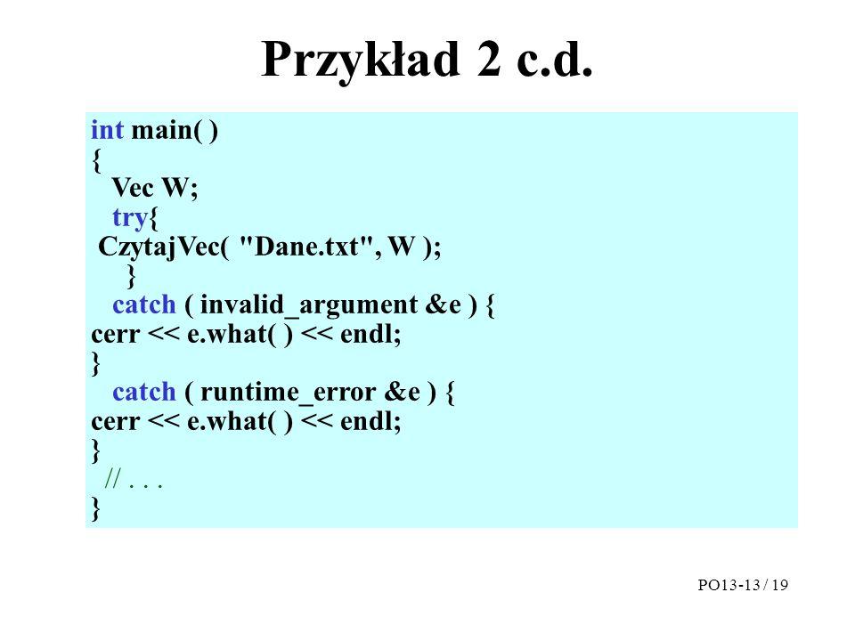 Przykład 2 c.d.