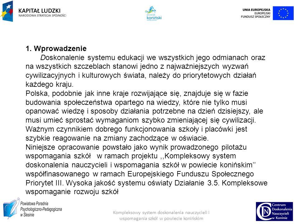 Kompleksowy system doskonalenia nauczycieli i wspomagania szkół w powiecie konińskim 3.3.