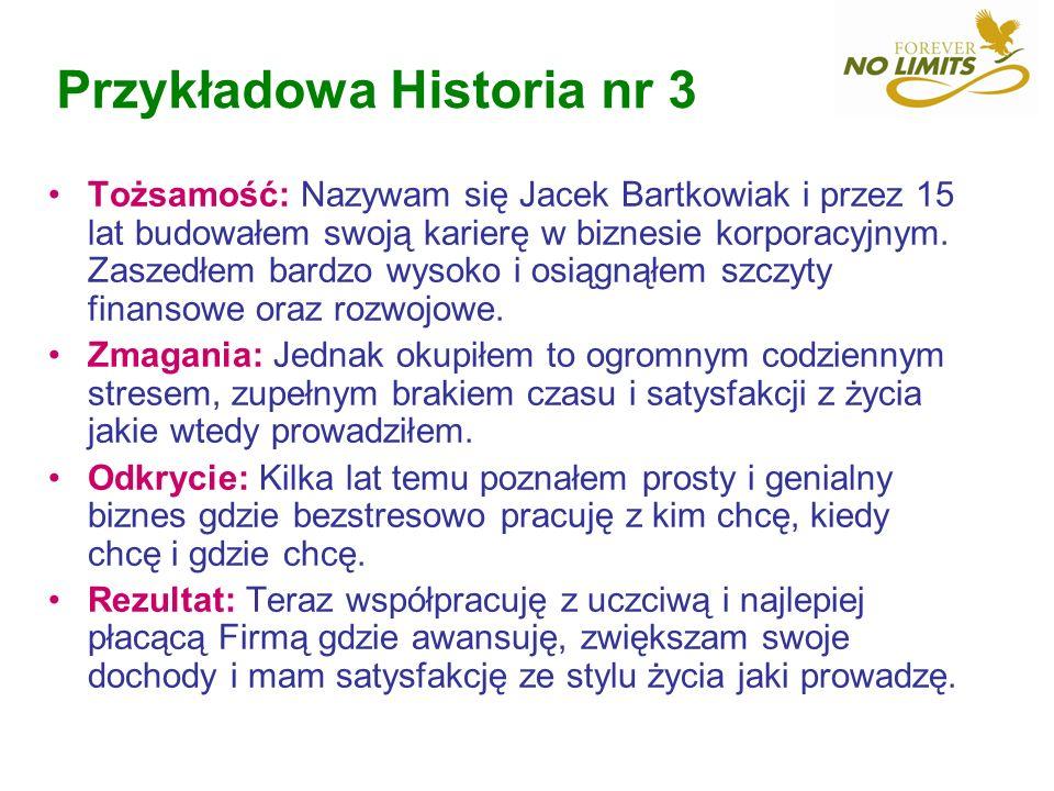 Przykładowa Historia nr 3 Tożsamość: Nazywam się Jacek Bartkowiak i przez 15 lat budowałem swoją karierę w biznesie korporacyjnym. Zaszedłem bardzo wy