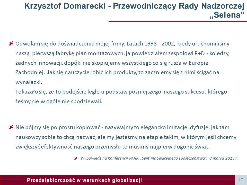 Przedsiębiorczość w warunkach globalizacji Innowacyjność polskich przedsiębiorstw na tle Europy i Świata Dane Eurostat - jesteśmy w ogonie Europy.