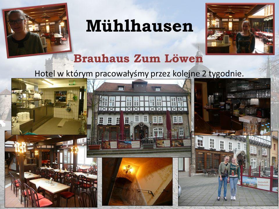 Mühlhausen Brauhaus Zum Löwen Hotel w którym pracowałyśmy przez kolejne 2 tygodnie.