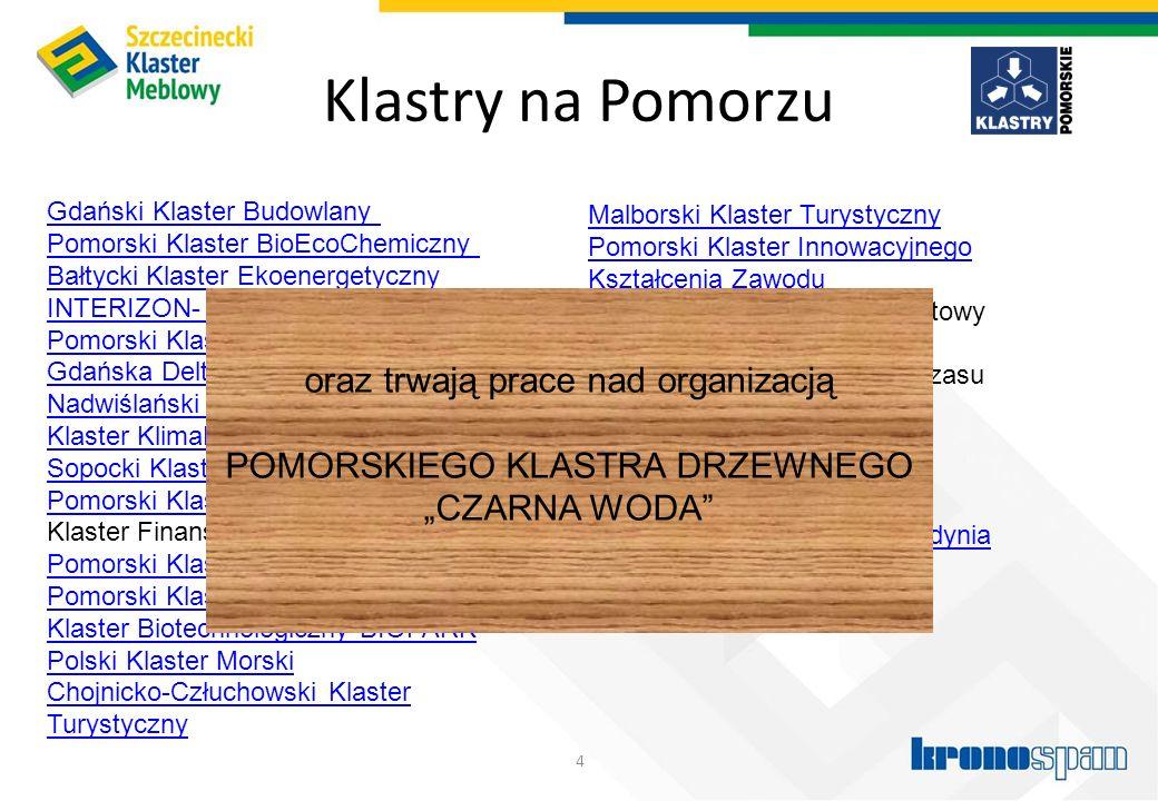 Klastry na Pomorzu 4 Gdański Klaster Budowlany Pomorski Klaster BioEcoChemiczny Bałtycki Klaster Ekoenergetyczny INTERIZON- Pomorski Klaster ICT Pomor