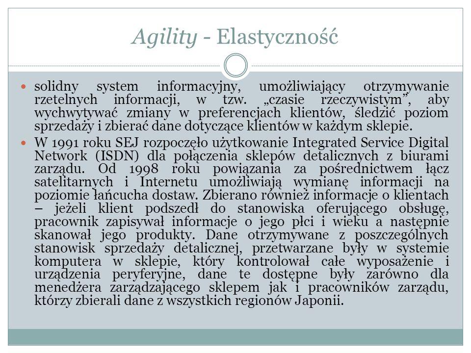 Agility - Elastyczność solidny system informacyjny, umożliwiający otrzymywanie rzetelnych informacji, w tzw.