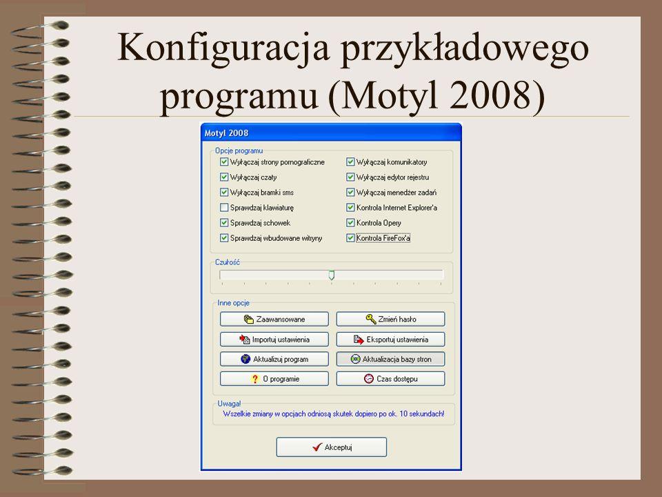 Jeżeli użytkownik próbuje uruchomić zakazany program wówczas można spodziewać się jednej z następujących reakcji: Nie jest wyświetlane żadne okno (brak jakichkolwiek reakcji).