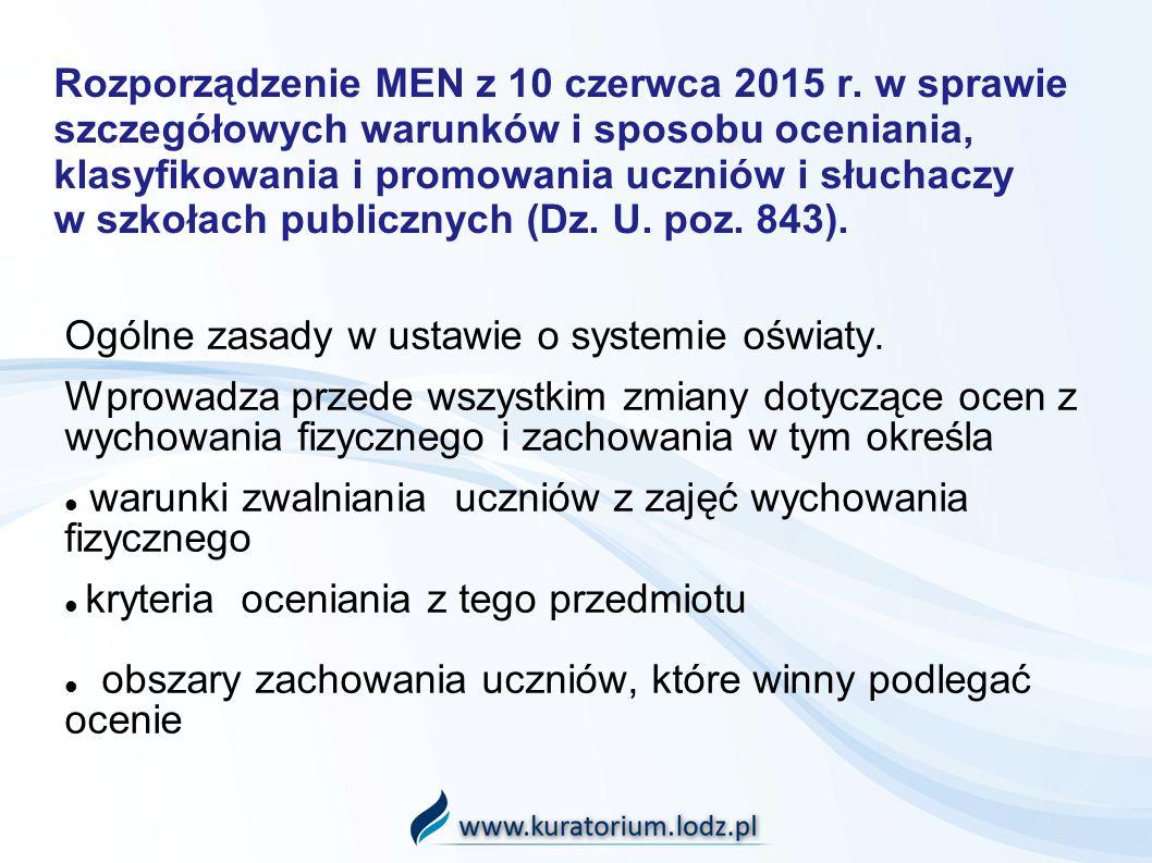 Ogólne zasady w ustawie o systemie oświaty.