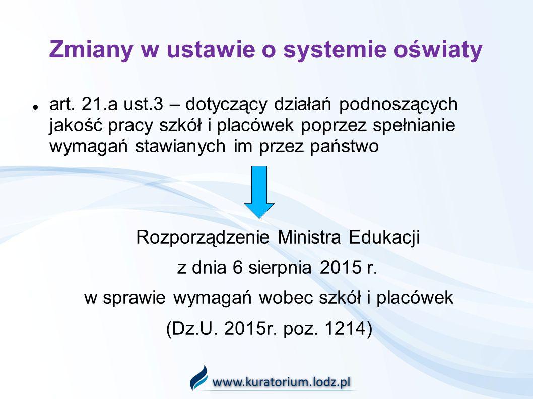 Zmiany w ustawie o systemie oświaty art.