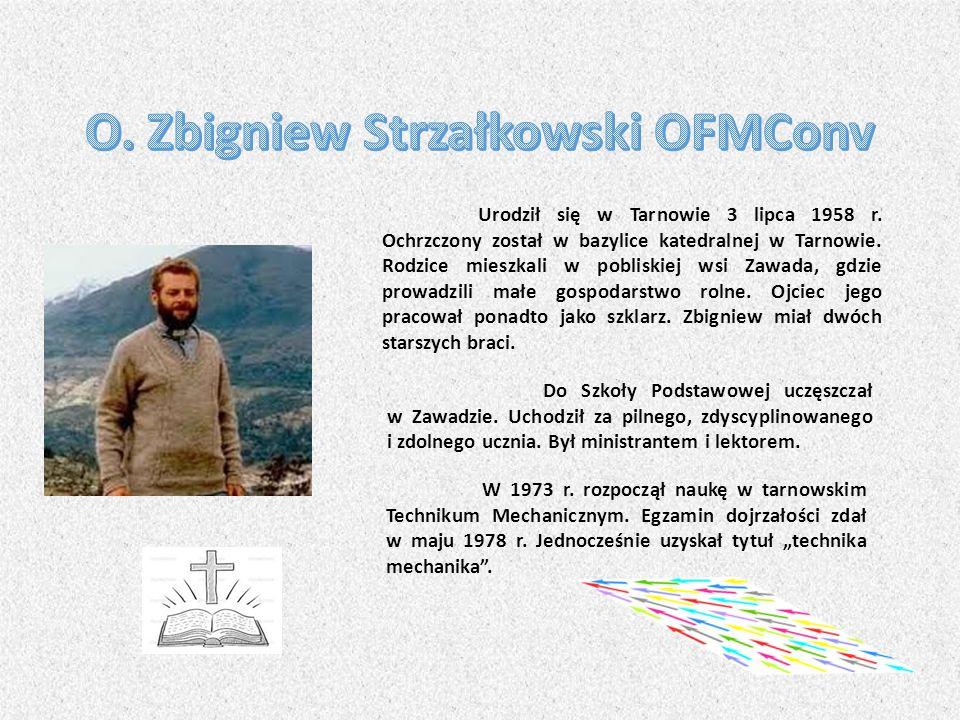 Urodził się w Tarnowie 3 lipca 1958 r.Ochrzczony został w bazylice katedralnej w Tarnowie.