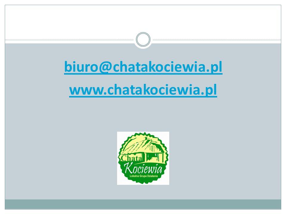 biuro@chatakociewia.pl www.chatakociewia.pl
