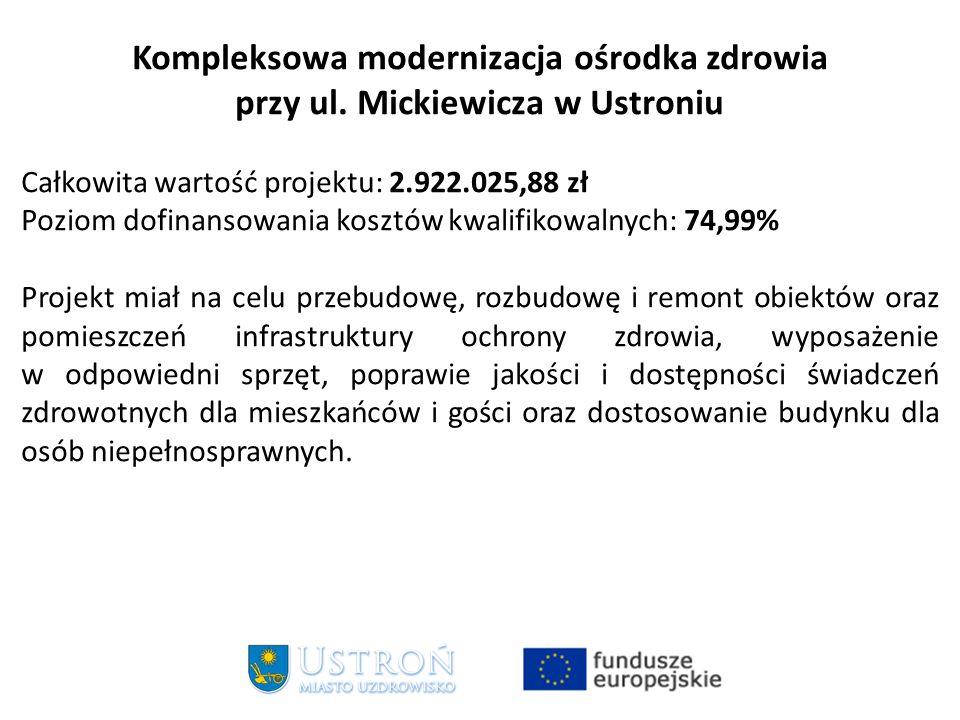 Kompleksowa modernizacja ośrodka zdrowia przy ul.