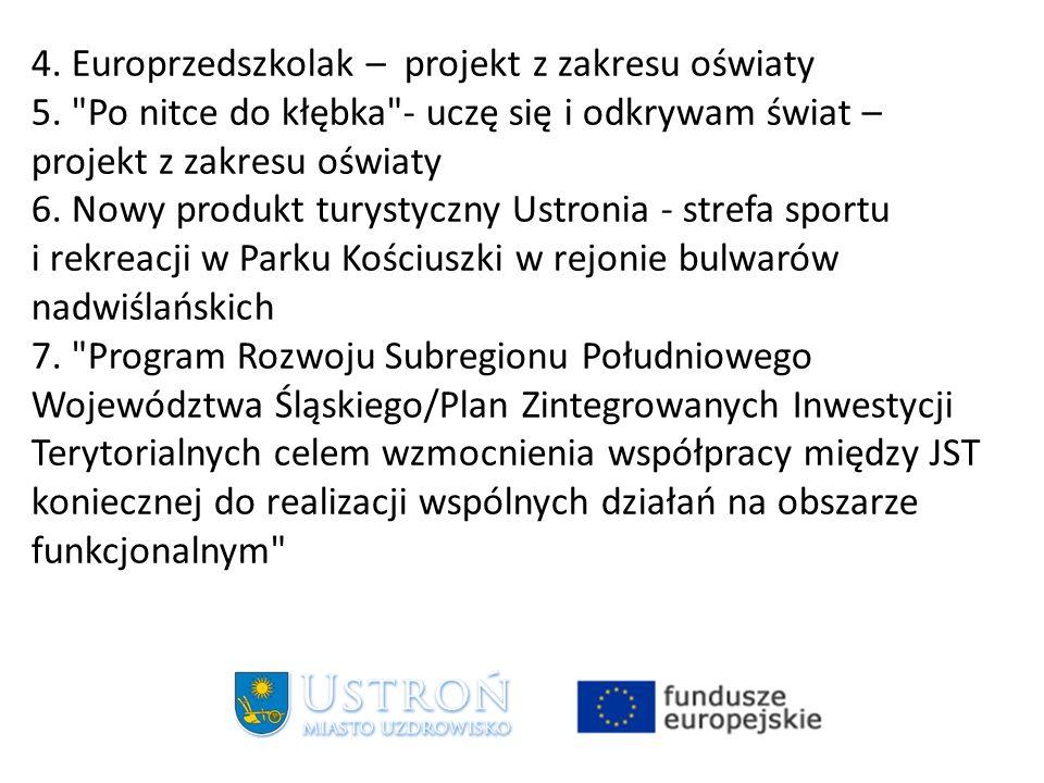 4. Europrzedszkolak – projekt z zakresu oświaty 5.