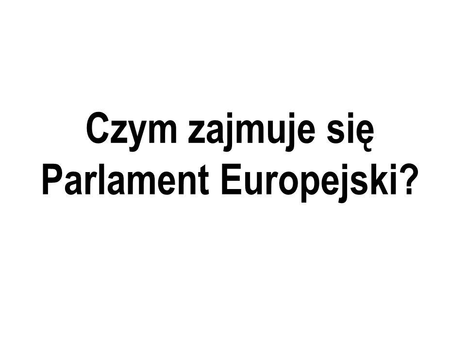 Czym zajmuje się Parlament Europejski?