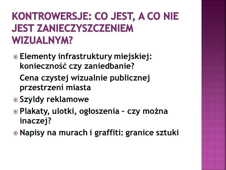  Elementy infrastruktury miejskiej: konieczność czy zaniedbanie.