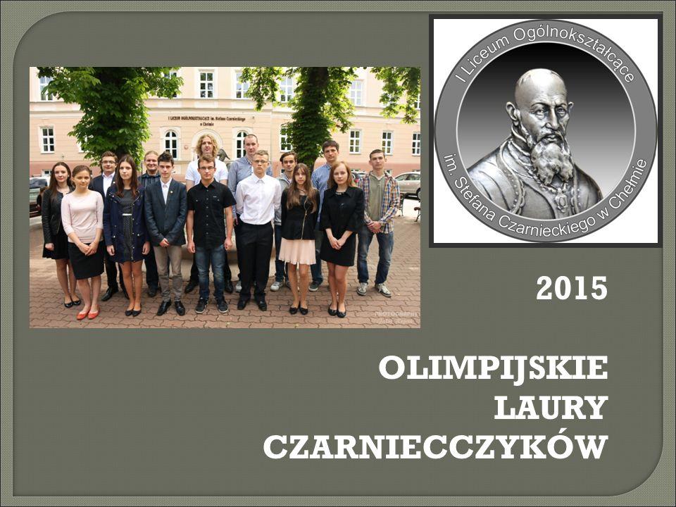 Olimpiady w roku szkolnym 2014/2015