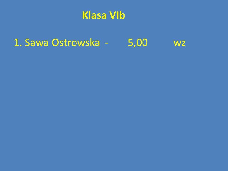 Klasa VIb 1. Sawa Ostrowska-5,00wz