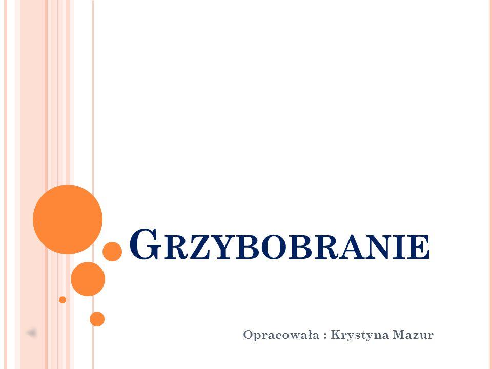 G RZYBOBRANIE Opracowała : Krystyna Mazur