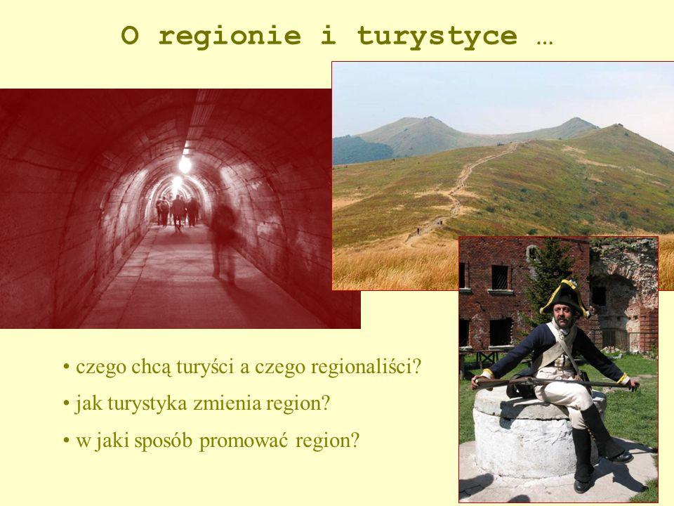 O regionie i turystyce … czego chcą turyści a czego regionaliści? jak turystyka zmienia region? w jaki sposób promować region?