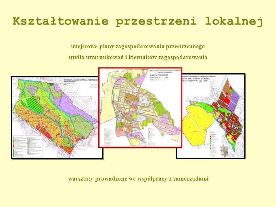 Kształtowanie przestrzeni lokalnej miejscowe plany zagospodarowania przestrzennego studia uwarunkowań i kierunków zagospodarowania warsztaty prowadzon