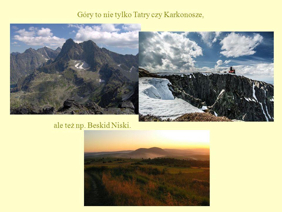 Góry to nie tylko Tatry czy Karkonosze, ale też np. Beskid Niski.