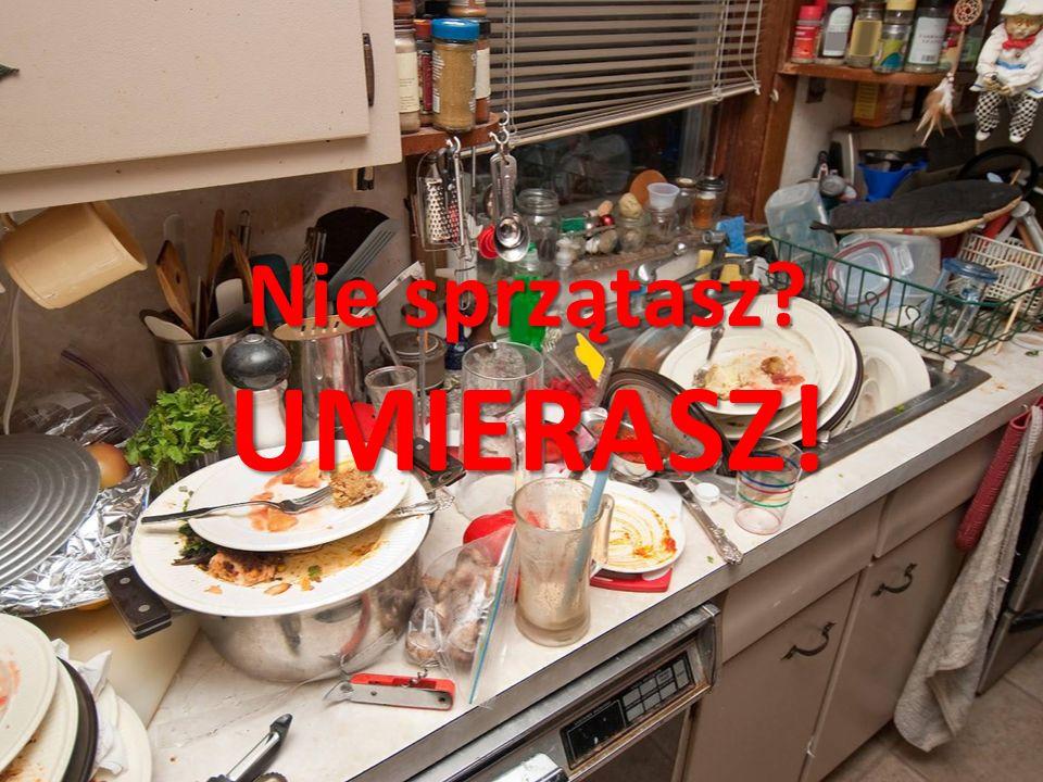 Jedna z chorób wynikających z braku czystości w kuchni NIE CHCESZ SIĘ NIMI ZARAZIĆ.
