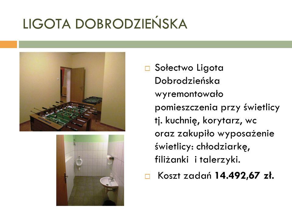 LIGOTA DOBRODZIEŃSKA  Sołectwo Ligota Dobrodzieńska wyremontowało pomieszczenia przy świetlicy tj.