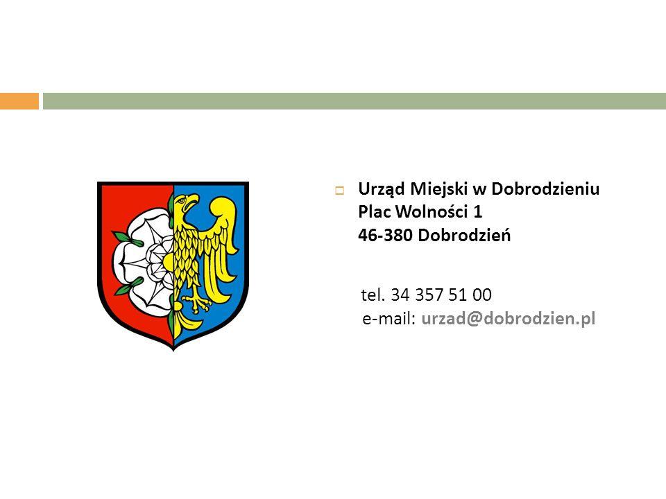  Urząd Miejski w Dobrodzieniu Plac Wolności 1 46-380 Dobrodzień tel.